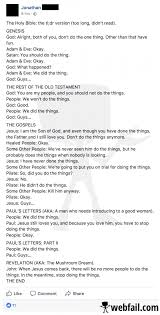 bible in a nutshell facebook win of the day 20 10 2017 webfail