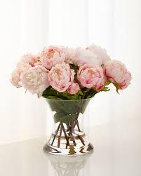 silk floral arrangements richard collection peonies n pink faux floral arrangement