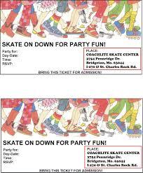 skating party invitations choice image party invitations ideas