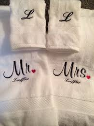 wedding gift towels embroidered monogrammed wedding gift towels mr mrs towels