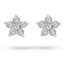 flower stud earrings silver cubic zirconia small flower stud earrings earrings