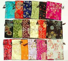 cloth gift bags large silk brocade fabric pouch drawstring decorating