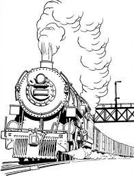 long smoke of steam train coloring page netart