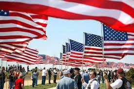 Va Flag Free Public Domain Image War Veterans Holding American Flags