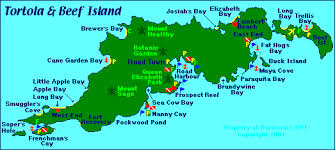map of the bvi map of tortola islands