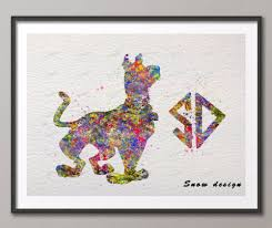 online get cheap cartoons scooby doo aliexpress com alibaba group original watercolor scooby doo canvas painting abstract wall art poster print pictures kids room nursery decoration