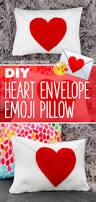 diy heart envelope emoji pillow u2013 valentine u0027s day craft karen kavett