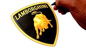 logo lamborghini artist draws famous car logos simple easy art youtube