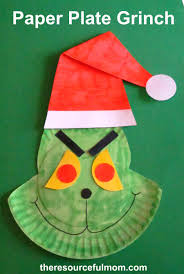 paper plate grinch by the resourcful mom kid blogger network
