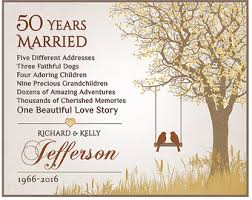 50 wedding anniversary 50th anniversary etsy