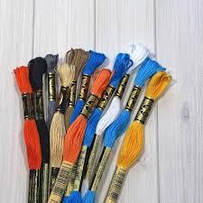 dmc embroidery floss color collection busy little bluebird