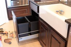 kitchen trash can cabinets sunroom furniture ideas walls design