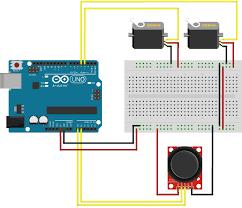 project servos using a joystick thumbstick arduino jpg wiring