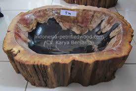 petrified wood indonesia petrified wood sink from bali petrified