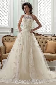 wedding dress high neck amazing a line high neck sleeveless floor length court appliques