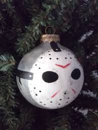 jason voorhees painted holiday ornament great halloween decor