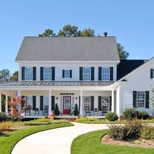 Front Porches On Colonial Homes Colonial With A Front Porch Addition Lovely Exteriors
