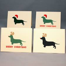 dachshund card set doxie cards