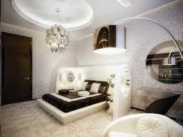 black white geomatric bed frame white pauinted dressing table dark