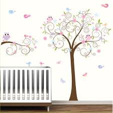 Tree Decals Nursery Wall by Nursery Wall Decal Children Wall Decal Baby Girl Wall Decal