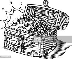 treasure chest clipart black and white collection