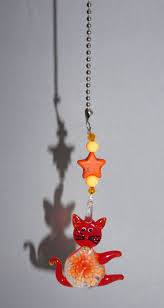 cat ceiling fan pulls orange glass lwork cat ceiling fan pull cat fan pull orange