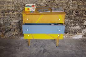 mobilier vintage enfant commode vintage enfant jaune gris yellow 1 u2013 rayré concept