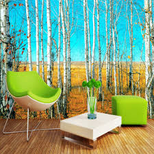 compare prices on large forest wall murals online shopping buy custom size hd birch forest 3d nature landscape photo wallpaper large wall painting background living room