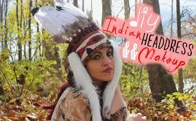 Native American Inspired Clothing Diy Native American Headdress Youtube