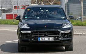 porsche inside view 2018 porsche cayenne spied inside and out with cleaner look