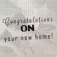 congratulations on your new home on grid paper vector image