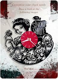 Disney Princess Home Decor by Amazon Com Snow White Vinyl Clock Disney Vinyl Wall Clock Vinyl