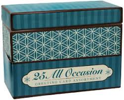 paper magic box of 25 assorted all occasion embellished greeting
