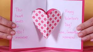 cool valentines cards to make valentine u0027s day heart pop up card parents