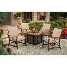 Patio Furniture With Gas Fire Pit by Pleasant Hearth Eden 38 In Square Gas Fire Pit Table Ofg418ta