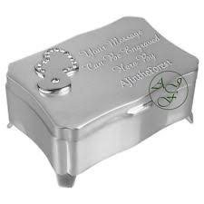 personalised jewelry box engraved silver jewellery box ebay