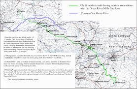 Road Map Of South Carolina Cowpens Nb The Green River Road Mills Gap Road