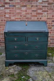 green bureau early painted oak bureau ref 1024 painted furniture