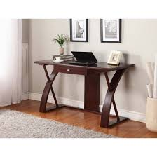 Computer Desk Cherry Wood Roundhill Solid Wood Computer Desk Cherry Brown Walmart