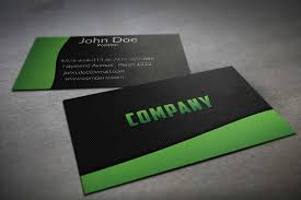 modern textile textured black and green business card template