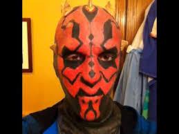Darth Maul Halloween Costume Homemade Darth Maul Mask