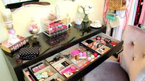 how to organise your makeup table table designs