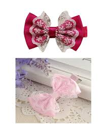 big bows for hair big bow hair clip with lace mix combo momiffy