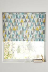 kitchen blinds ideas uk buy textured geo print blackout roller blind from the uk