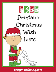 christmas wish list printable christmas wish lists s wandering