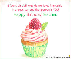 i found discipline guidance teacher birthday ecard