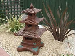 three tier pagoda garden statue ornament koi ebay
