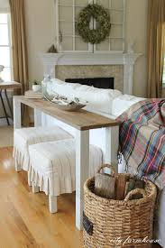 Diy Reclaimed Wood Storage Bench rustic diy sofa table with dipped legs do it yourself