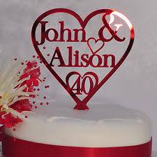 personalised wedding cake decorations ebay