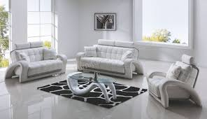 living room leather armchair white brown leather couch set black